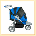 AT3 All Terrain Pet Stroller by Pet Gear (BLUE)